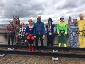 Group photo on the roof before charity abseil