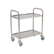 Stainless Steel Cleanroom Trolley - 2 Tier Self Assembly