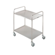Stainless Steel Cleanroom Trolley-2 Tier Fully Welded