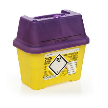 Cytotoxic Waste Bins - For Sharps and Hazardous Waste