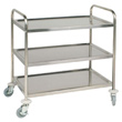 Stainless Steel Cleanroom Trolley - 3 Tier Self Assembly