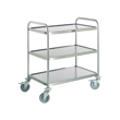 Stainless Steel Cleanroom Trolley-3 Tier Fully Welded