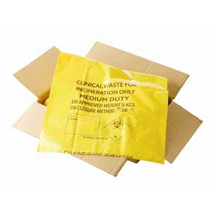 Clinical Waste Sacks & Biohazard Flat Pack Waste Bags