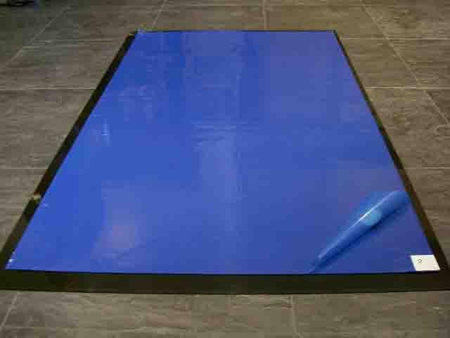blue sticky tacky mat sample antistatic mats