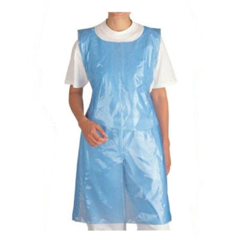 Disposable Plastic Aprons in 2 Colours - 100 Flat Pack