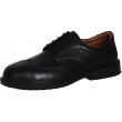 Leather Safety Brogue Shoes with Toe Cap - Slip Resistant