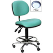 Cleanroom Anti-Bacterial Vinyl Chair with HEPA Filter