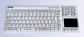 Hygienic Silicone Keyboard for Cleanrooms & Medical Use