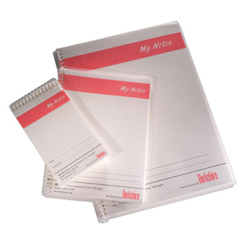 Cleanroom Notebooks A4 & A5 - Low Particles BCR MyNotes