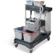 Cleanroom Twin String Mop Bucket Trolley and Wringer