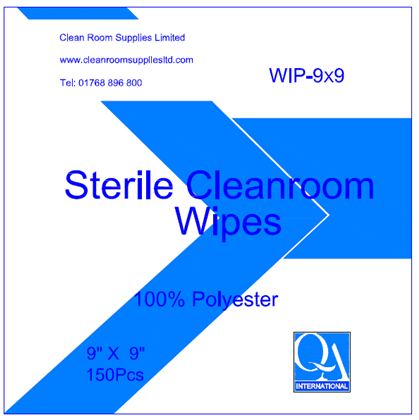 Cleanroom Wipes - STERILE 100% Polyester Ultra Low Lint