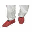 CPE Plastic Disposable Elasticated Shoe Covers in Red
