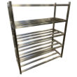 Stainless Free Standing Slatted Shelves for Cleanroom