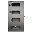 Glove Dispenser With Hinged Door – 4 Glove Compartments