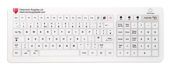 Hygienic Glass Cleanroom Keyboard