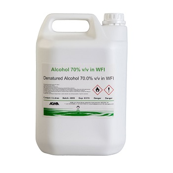 70% Non-Sterile DE (Denatured Ethanol) Alcohol 1L or 5L