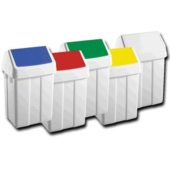 Cleanroom Waste Bins - Plastic, Colour Coded 50 Litres