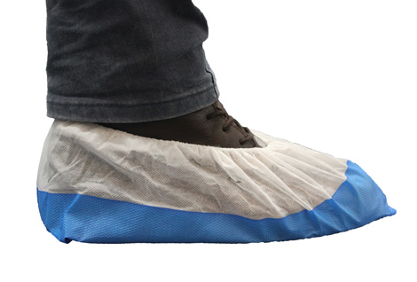 CPE/PP Plastic Disposable Overshoes with Anti-Slip Sole