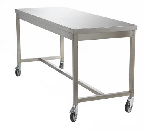 Stainless Steel Table with Castors - Cleanroom Supplies