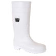 White Knee High Wellingtons - Hygienic and Lightweight
