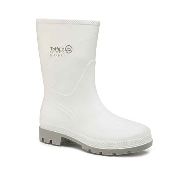 White Half Wellington Boots - Hygienic and Lightweight
